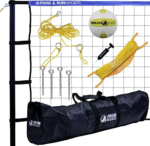 Park & Sun Sports Tournament 179: Portable Outdoor Volleyball Net System, Blue