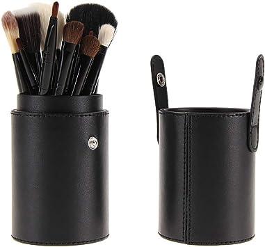 12Pcs Brocha de Maquillaje Set de Pinceles de Maquillaje de Lana CilíNdrica Profesional Mango de Madera Belleza Pinceles de , Pinceles Maquillaje De Ojos Rubor Contorno de Los Labios Corrector: Amazon.es: Belleza