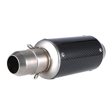 KKmoon 38-51mm Terminali di Scarico Silenziatore Marmitta Exhaust per Moto Colore Gelo Coda Obliqua Rimontare del Silenziatore di Scarico per Moto ATV Universale