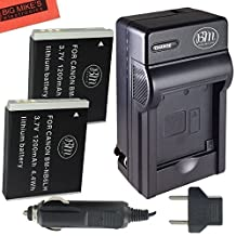 BM Premium Pack of 2 NB6L, NB-6L, NB-6LH Batteries and Charger Kit for Canon PowerShot S120, SX170 IS, SX260 HS, SX280 HS, SX500 IS, SX510 HS, SX520 HS, SX530 HS, SX540 HS, SX600 HS, SX610 HS, SX700 HS, SX710 HS, ELPH 500 HS, D10, D20, D30 Digital Camera
