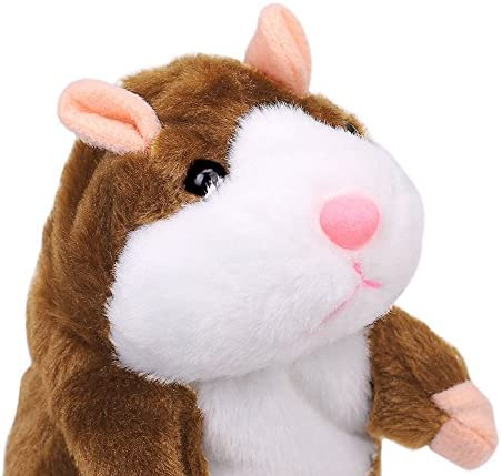 Cute Repeat Talking Hamster Mouse Records Speech Kids Nod Mimicry Pet Plush Toy