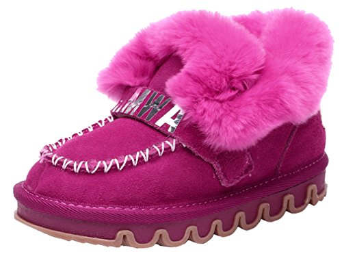 Shoe Loafer Rose Durable Tassel Style Shoe Shoe Cotton Walking Cotton Thickened Pointss Girls Leather Winter Soft Snow Boys Sneaker 1qnvxXSUT