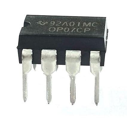 Sourcingmap - 5 piezas op07cp 15v 8 pines ic amplificador operacional para el circuito integrado