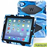 iPad Cases,iPad 2 Case,iPad 4 Case,TRAVELLOR®[Heavy Duty] iPad Case,Three Layer Armor Defender And Full Body Protective Case Cover With Kickstand And Screen Protector for iPad 2/3/4 Navy/Black