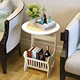 Storage Tower Magazine Shelf Storage Unit Telephone Table Drawer Combination Bookcase (White, PVC,303360cm)
