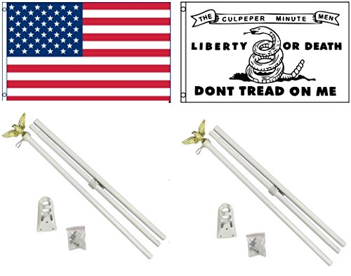 NEW 3'x5' CULPEPER MINUTE MEN & Embroidered AMERICAN Flags &