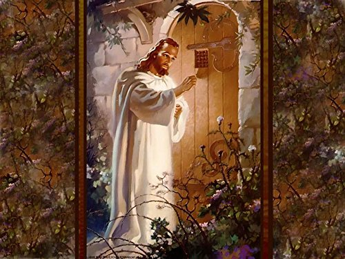 Jesus is Knocking at the Door, Jesus Christ, Religion, Vintage, Souvenir Magnet 2 x 3 Photo Fridge Magnet ()