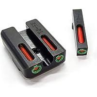 SPINA OPTICS Frontal de Fibra óptica roja y Verde con focos Traseros de Combate y Tres Puntos de Bloqueo para G Better Shooting