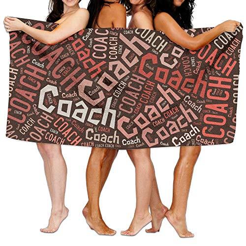 そこから圧縮妊娠したビーチバスタオル バスタオル コーチ Coach,ピンク,灰色 風呂 海水浴 旅行用タオル 多用途 おしゃれ White