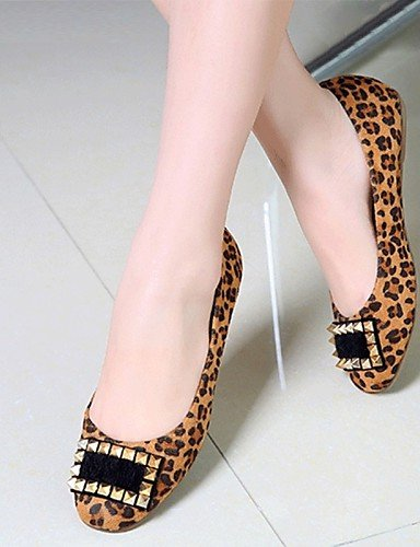 PDX/ Damenschuhe - Ballerinas - Büro / Kleid / Lässig - Lackleder / Kunstleder - Flacher Absatz - Komfort - Schwarz / Rot / Tierdruck , black-us5.5 / eu36 / uk3.5 / cn35 , black-us5.5 / eu36 / uk3.5 /