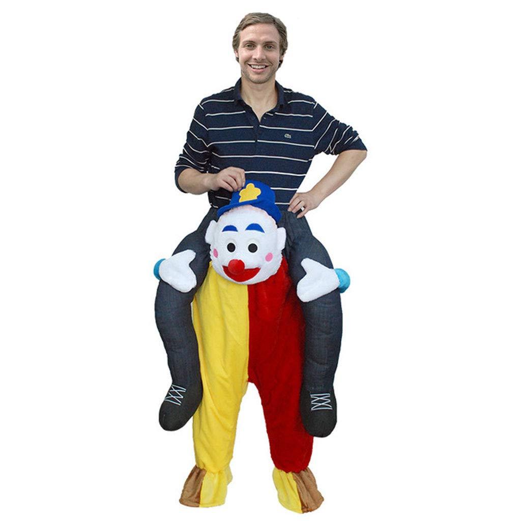 Erwachsenes aufblasbares Clown-Kostüm Halloween Cosplay Fantasie-Kostüm (Größe : S)