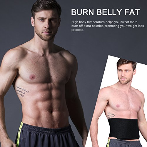 YOUNGDO Waist Trimmer, Fitness ab Slimmer Belt Weight Loss B