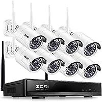 ZOSI Enregistreur de Vidéosurveillance sans Fil avec 8 Caméras IP