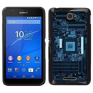 iKiki Tech / Estuche rígido - Azul PCB Junta Esquemas - Sony Xperia E4