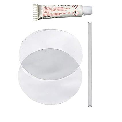 Vococal - 5 Piezas Kit de Herramienta PVC Punción Reparación Parche Pegamento para Piscinas Inflables de