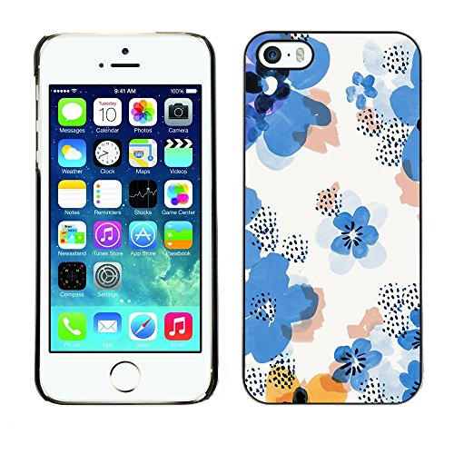 Soft Silicone Rubber Case Hard Cover Protective Accessory Compatible with Apple iPhone? 5 & 5S - flower pattern white clean floral
