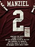 Autographed/Signed Johnny Manziel Texas A&M Aggies Maroon Stat Football Jersey JSA COA