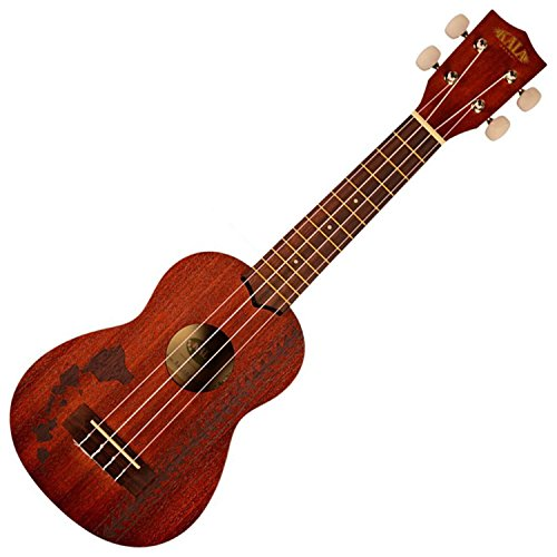 Kala Mahogany KA-15S-H2 Soprano Ukulele (Hawiian Islands with Tattoo Band)