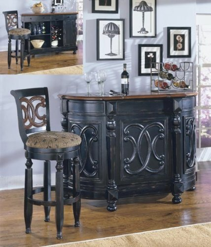 Homelegance Pottery (Torino Collection Bar Table Counter Unit w/Wine Storage)