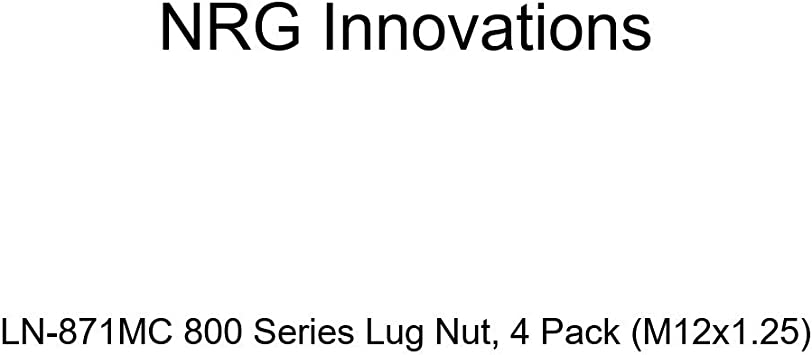 M12x1.25 4 Pack NRG Innovations LN-871MC 800 Series Lug Nut