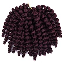 6 packs Jamaican Bounce JUMPY Wand Curl (99J) Crochet Braids Synthetic Hair for women by Silike