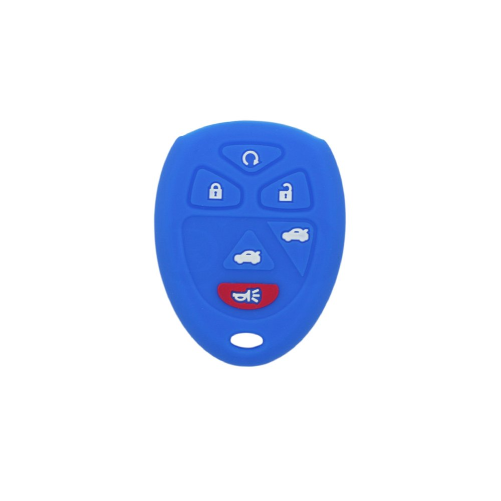 SEGADEN Silicone Cover Protector Case Skin Jacket fit for CHEVROLET GMC SATURN 6 Button Remote Key Fob CV4608 Gray