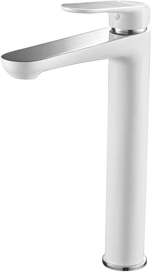 Casavilla Basin Mixer Tap Bathroom Tall Sink Tap Single Lever Faucet White Brass WAS £85 NOW £42.50 w/code RIFK4P3V @ Amazon