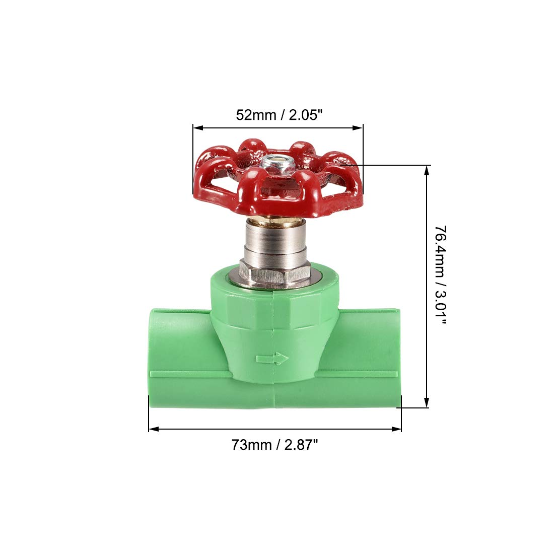 for Control Water Flow uxcell Gate Valve 1//2 Slip Socket Valve PPR Red Green 20mm Inner Diameter