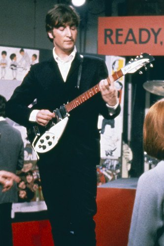 The Beatles John Lennon Playing Guitar Ready Steady Go TV Show 24x36 Poster