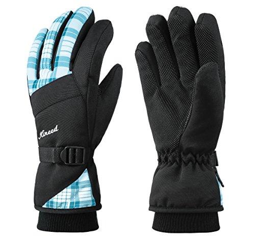 KINEED Winter Women Ski Gloves, Waterproof Windproof Snowboard Snow Riding 3M Thinsulate Warm Gloves