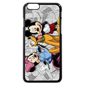 Customized Black Frosted Plastic Disney Cartoon Micky Mouse & Pluto Dog iPhone 6 4.7 Case, Only fit iPhone 6 4.7""