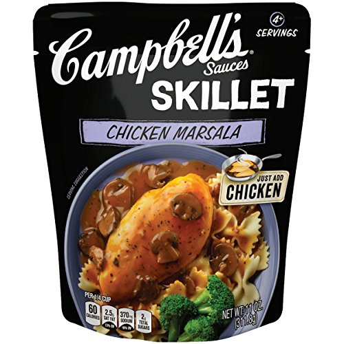 Mushroom Pasta Sauce - Campbell's Skillet Sauces Chicken Marsala, 11 Ounce (Packaging May Vary)