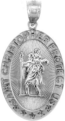 925 Sterling Silver St Christopher Medal