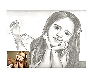 Buy Memories Wooden Frame Handmade Artwork Pencil Sketch 50 X 65 Cm Online At Low Prices In India Amazon In