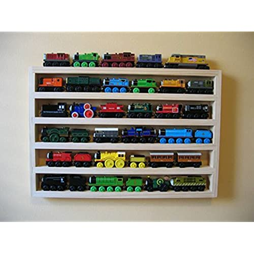 Good Train Rack Basic   Thomas Train Wooden Storage Display Wall Rack Shelf Play  Table Accessory Case For Brio Chuggington Melissa And Doug