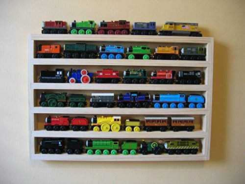 (Train Rack Basic - Thomas Train Wooden Storage Display Wall Rack Shelf Play Table Accessory Case for Brio Chuggington Melissa and Doug)