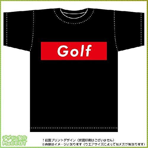 ゴルフTシャツ(コットンT-shirt:ブラック) ストリート系BOXロゴデザイン