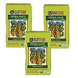 ECOTEAS Organic Unsmoked Yerba Mate Tea Pure Loose Leaf 1 LB (Pack of 3)