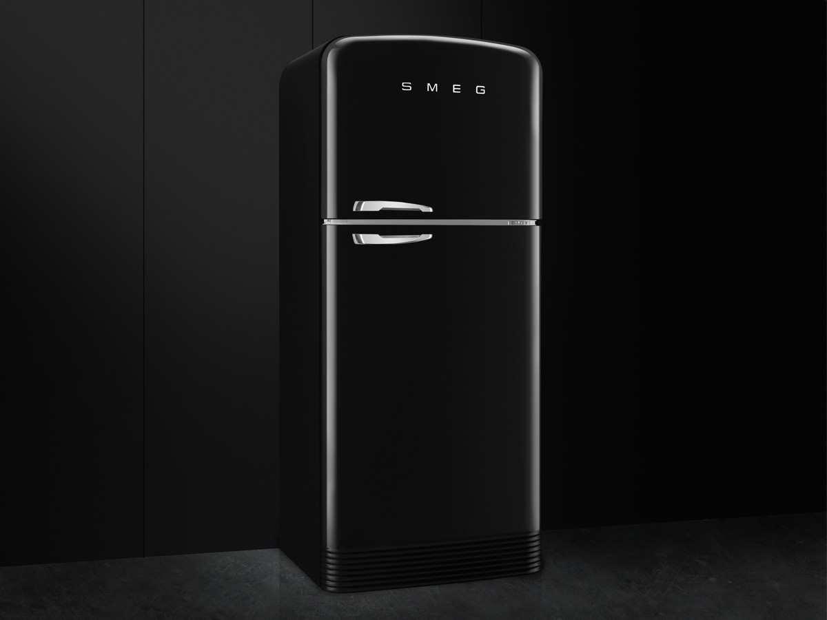 Smeg FAB50RBL Stand Kühl-Gefrier-Kombination Schwarz Kühlschrank ...