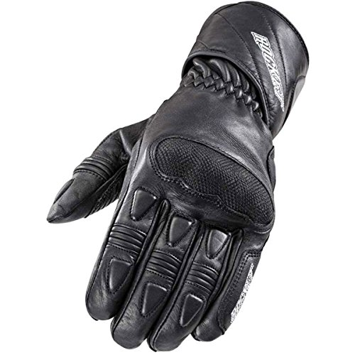 (Joe Rocket Pro Men's Leather Street Racing Motorcycle Gloves - Black / Large)