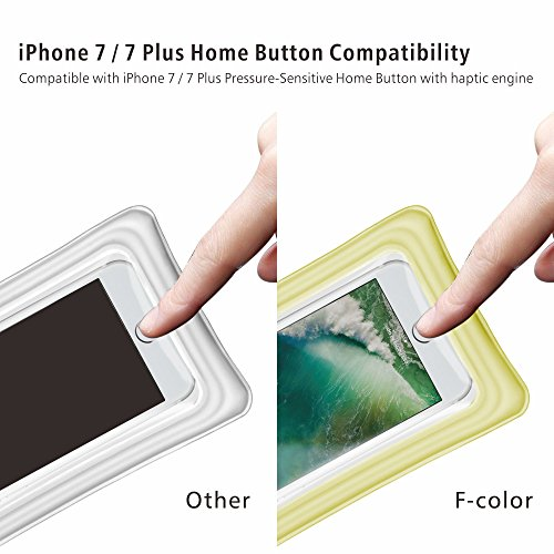 Waterproof Phone Pouch, 4 Pack F-color Clear Floating Waterproof Phone Case with Armband Beach Bag for Boating, Skiing, Water Sports, Compatible with iPhone X 8 7 6S Plus SE 5, Google Pixel and More by F-color (Image #3)