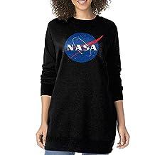 KIHOYG Women's Nasa Chemtrails Logo Long Sleeves Sweatshirt Dress