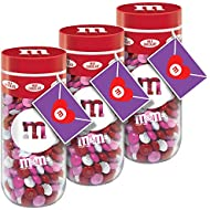 M&M'S Milk Chocolate Valentine's Day Candy Gift, 13-Ounce Jar (Pack of 3)