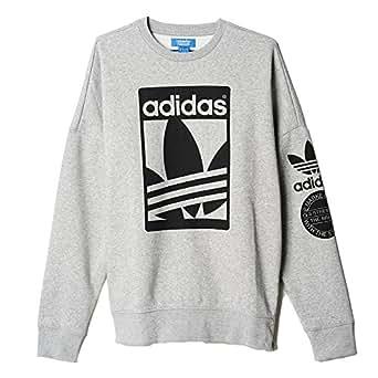 Adidas Men's Originals Street Graphic Crew Sweatshirt Medium Grey Heather ab8027 (Size 4X)