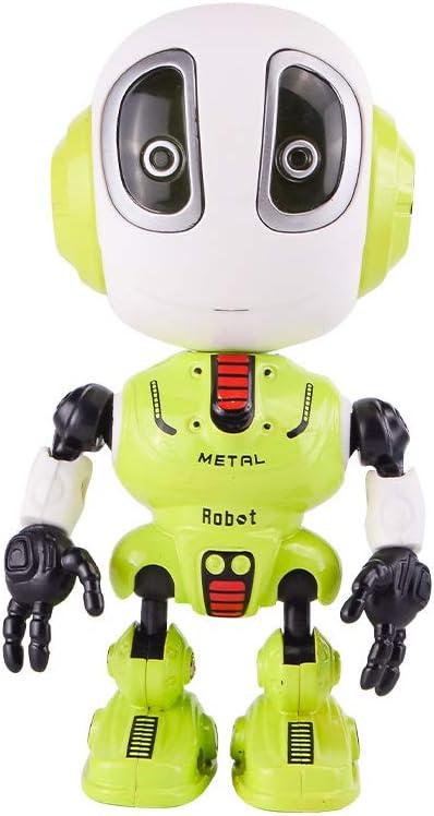 Sipobuy Divertido Juego de grabación Mini Juguete Robot, Interactivo con Repite tu Voz, Luces parpadeantes de Colores, percepción de la Cabeza, Regalo Genial para niños de 3-12 años, niños
