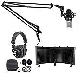 Rockville Studio Microphone+40' Boom Arm+Desk Clamp+Mount+Headphones+Shield