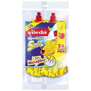 Vileda 11099 SuperMocio Soft Ersatzmop - extra starke Saugkraft und 30%...