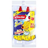 Vileda SuperMocio Soft Ersatzmop - extra starke Saugkraft und 30% Mikrofaseranteil - Doppel-Vorteilspack