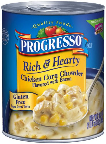 Progresso Soup 6pack Rich & Hearty Chicken Corn Chowder (Flavored with Bacon)