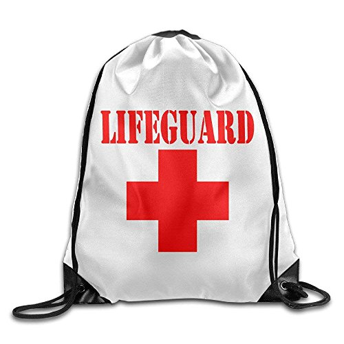 Lifeguard Gear Logo Drawstring Backpack Travel Bag Handbags